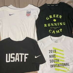 Lot of 4 Nike Running Track Tops Size Small